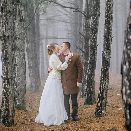 Зимняя свадьба Ани и Андрея