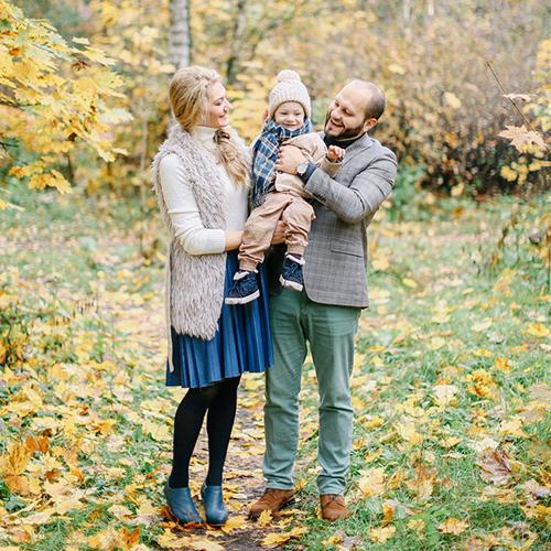 Осенняя семейная съемка в парке