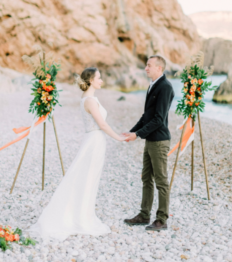 Церемония для двоих на пляже
