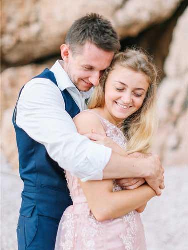 Аня и Олег пляж русалка