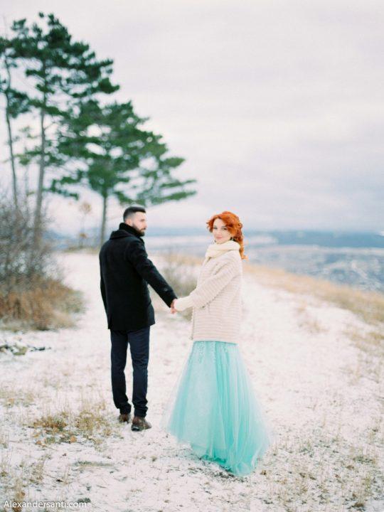 Свадьба для двоих зимним днем